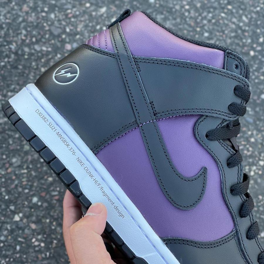 Nike Dunk Hi Hiroshi Fujiwara noire et bordeaux (6)