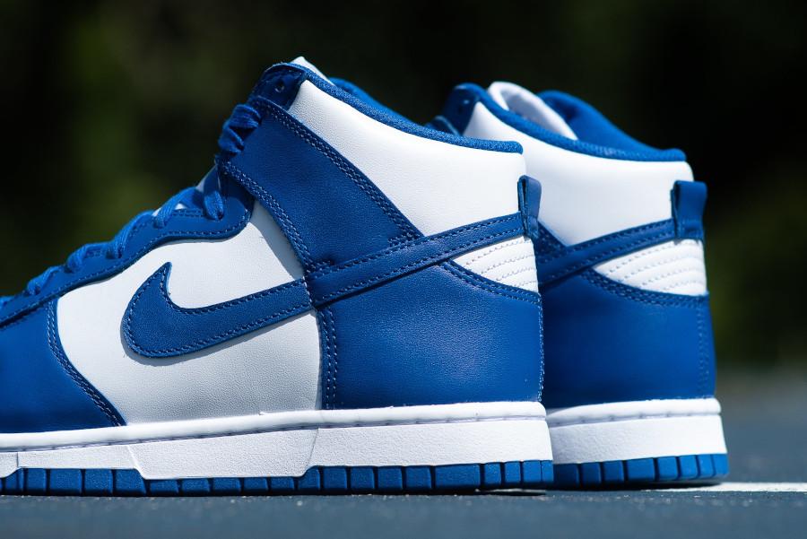 Nike Dunk Hi blanche et bleue '21 (1)