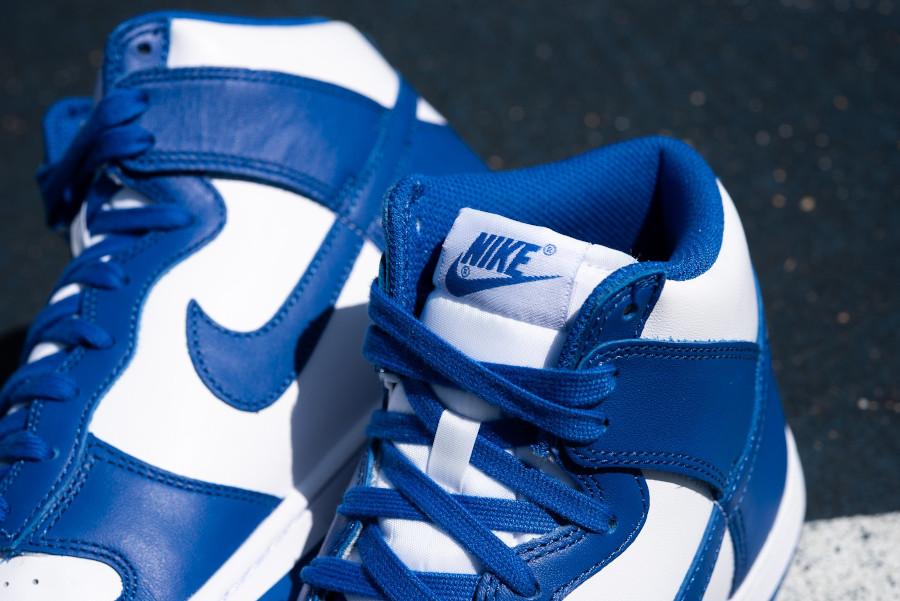 Nike Dunk Hi blanche et bleue '21 (2)