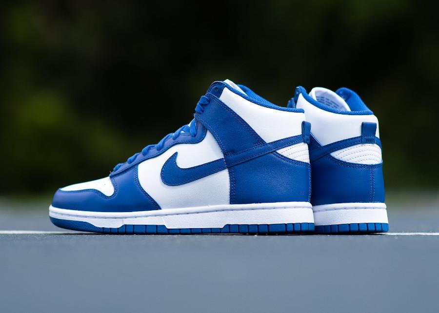 Nike Dunk Hi blanche et bleue '21 (3)