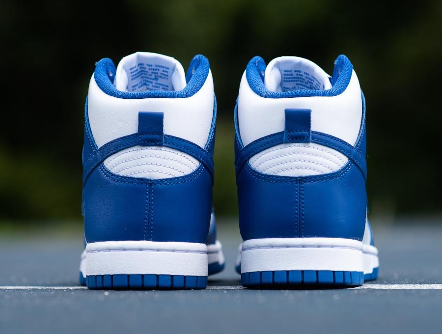 Nike Dunk Hi blanche et bleue '21 (4)