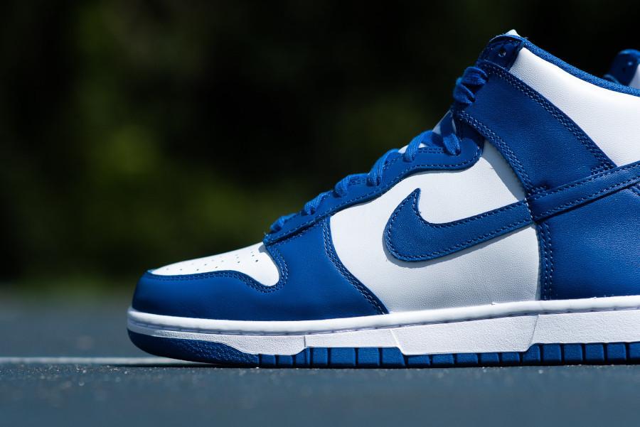 Nike Dunk Hi blanche et bleue '21 (6)