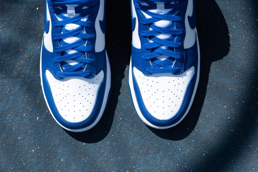 Nike Dunk Hi blanche et bleue '21 (7)