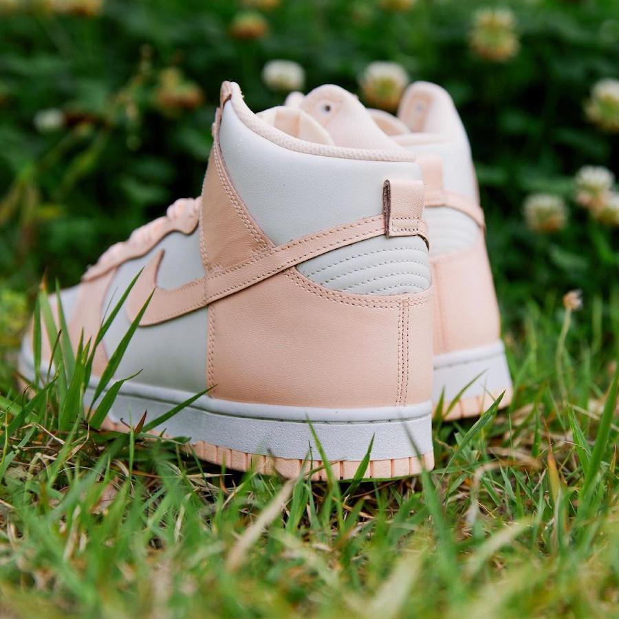 Nike Dunk Hi pour fille blanche et rose pastel (juin 2021 (1)
