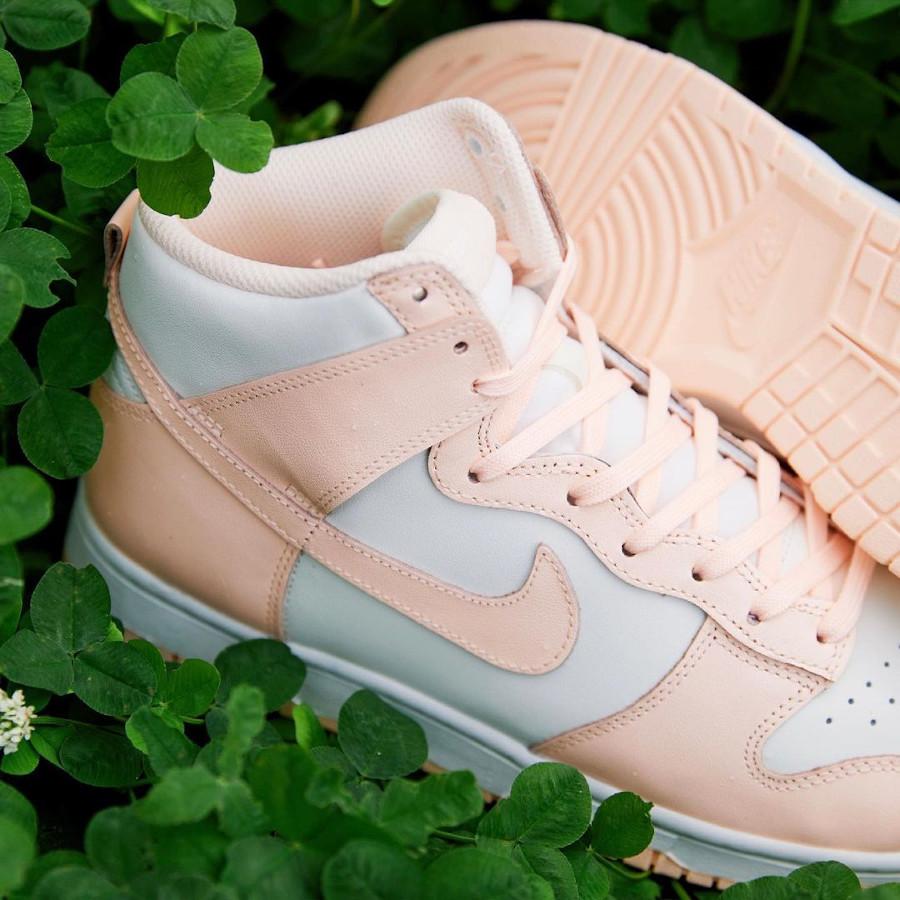 Nike Dunk Hi pour fille blanche et rose pastel (juin 2021 (5)
