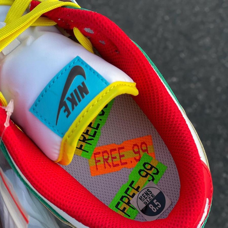 Nike Dunk Low Free 99 blanche bleue verte et jaune (1-1)