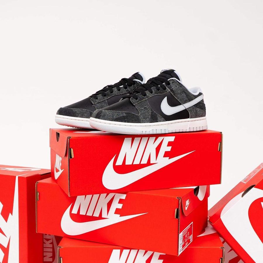 Nike Dunk Low Premium noire (imprimé zèbre) (1)
