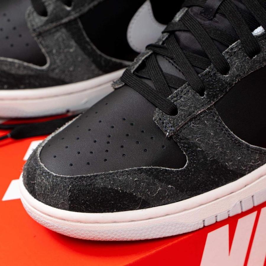 Nike Dunk Low Premium noire (imprimé zèbre) (2)