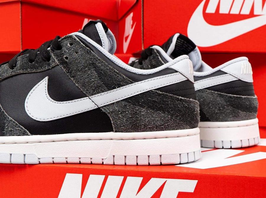 Nike Dunk Low Premium noire (imprimé zèbre) (4)