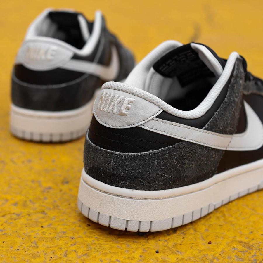 Nike Dunk Low Premium noire (imprimé zèbre) (6)