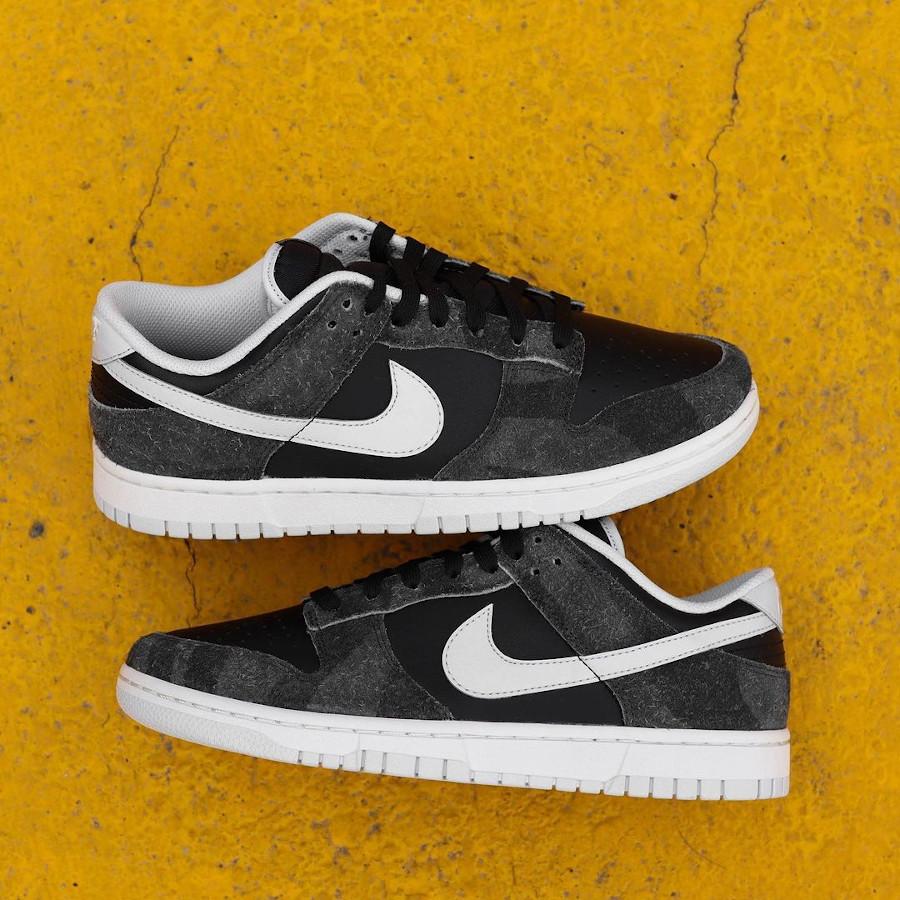 Nike Dunk Low Premium noire (imprimé zèbre) (7)