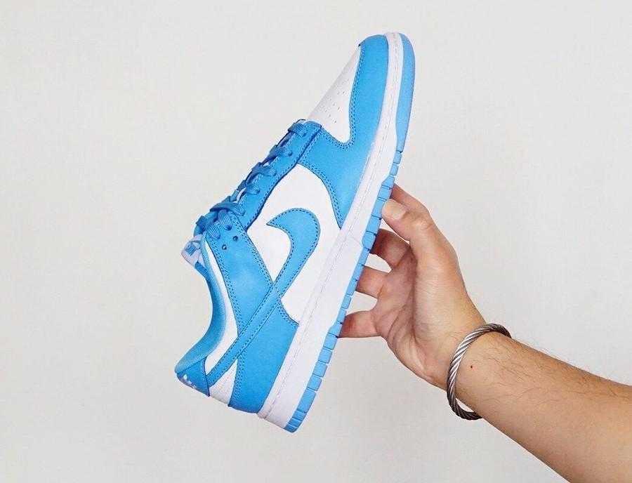 Nike Dunk Low blanche et bleu ciel pour homme (1)