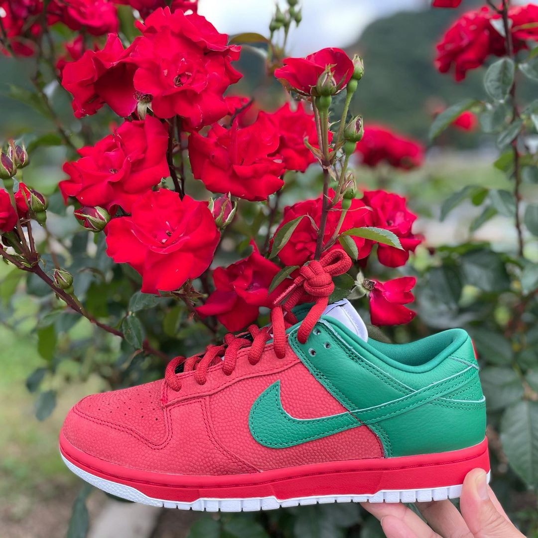 Nike Dunk Low by You Strawberry attack.on.ranchu