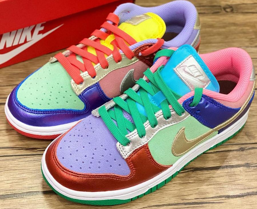 Nike Dunk Low femme métallique multi color (1)