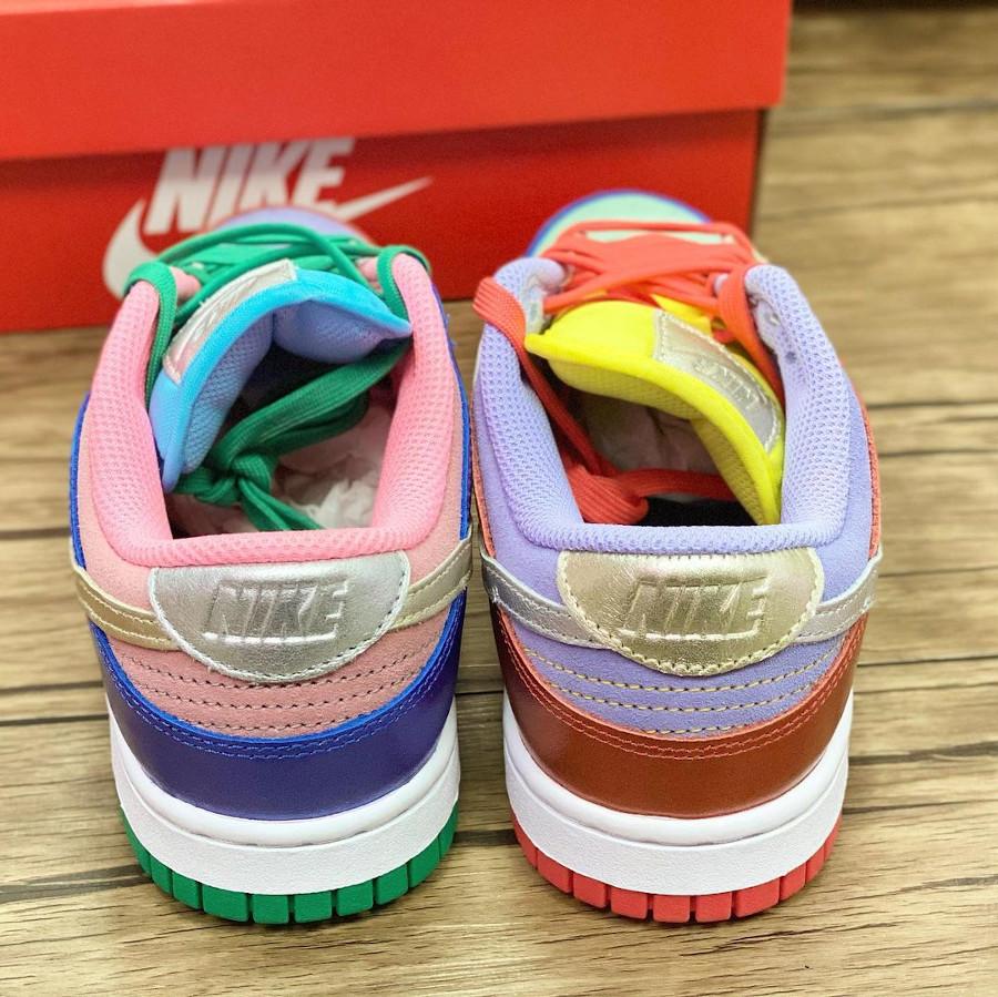 Nike Dunk Low femme métallique multi color (2)