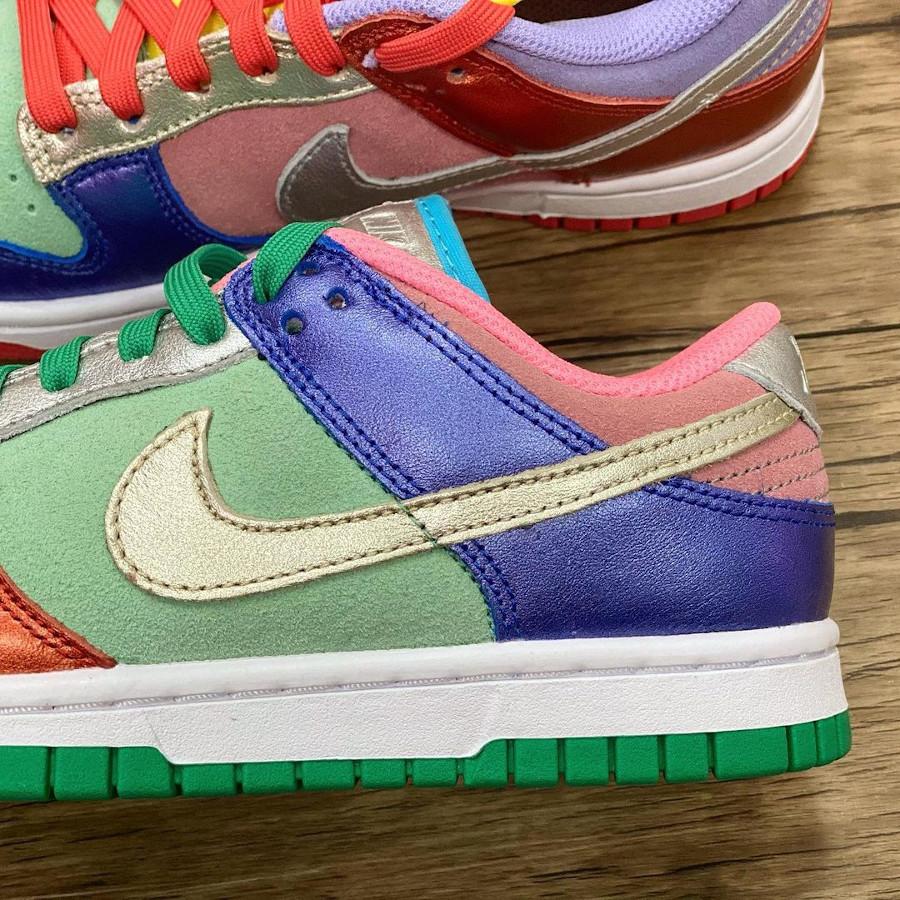 Nike Dunk Low femme métallique multi color (3)