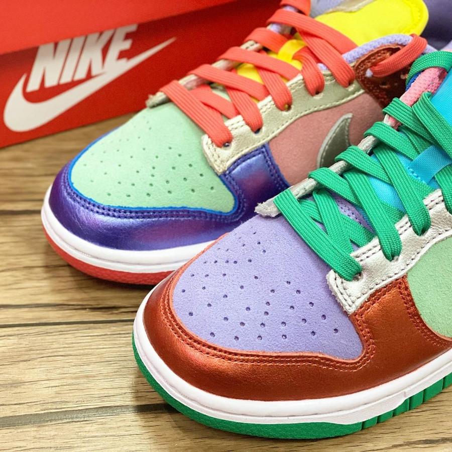 Nike Dunk Low femme métallique multi color (4)