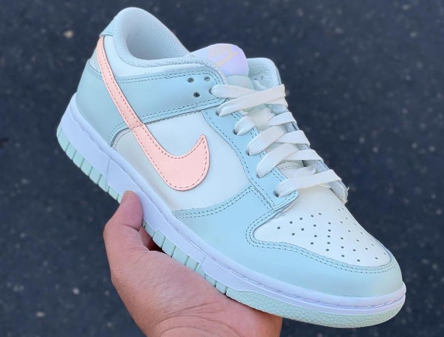 Nike Dunk Low vert menthe rose pastel (0)