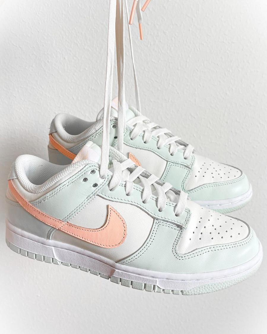 Nike Dunk Low vert menthe rose pastel (2)