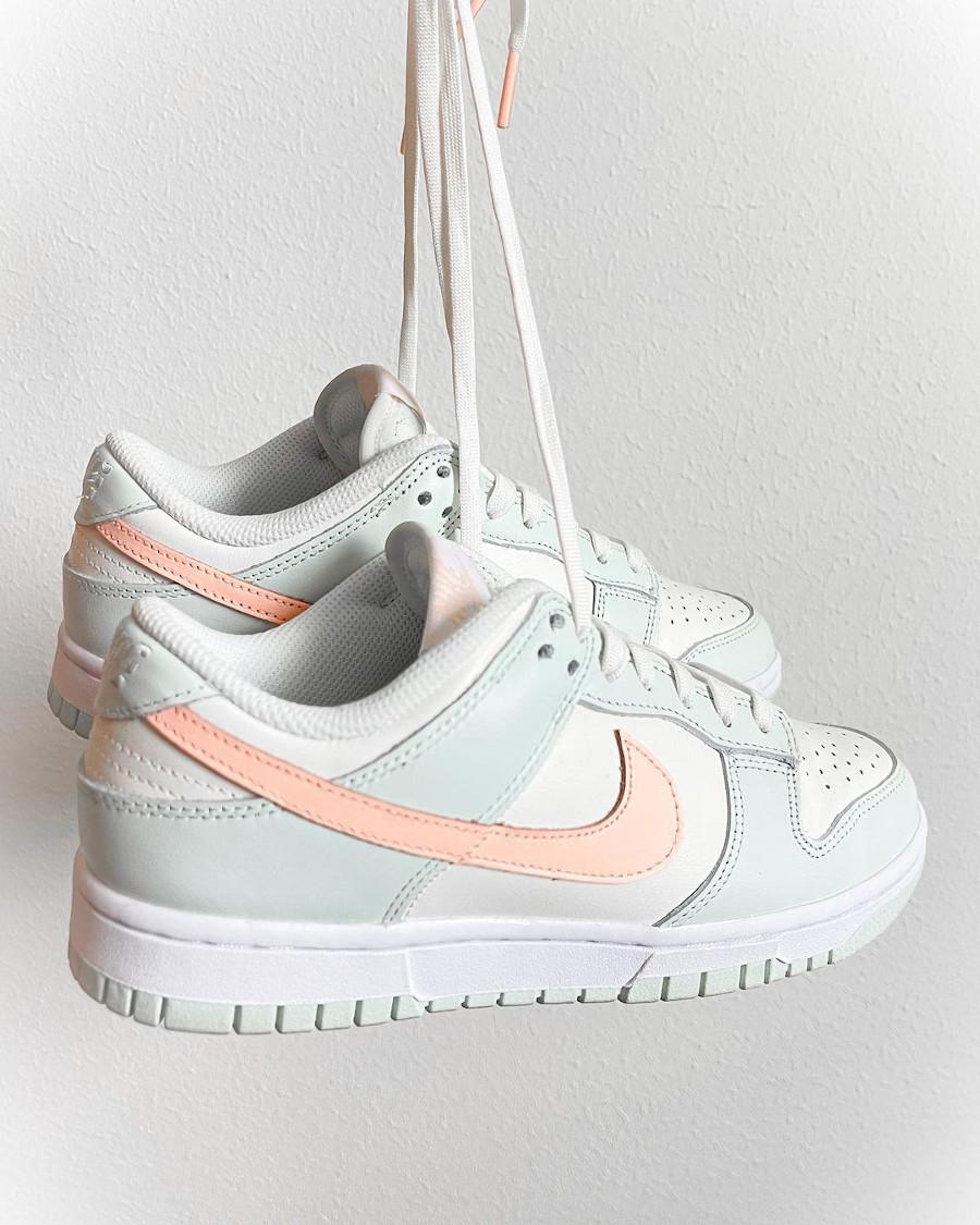 Nike Dunk Low vert menthe rose pastel (3)