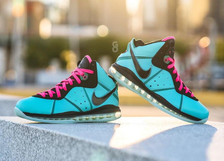 Nike Lebron 8 QS South Beach Filament Green 2021