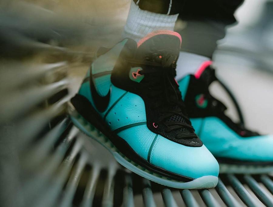 Nike Lebron 8 QS South Beach on feet