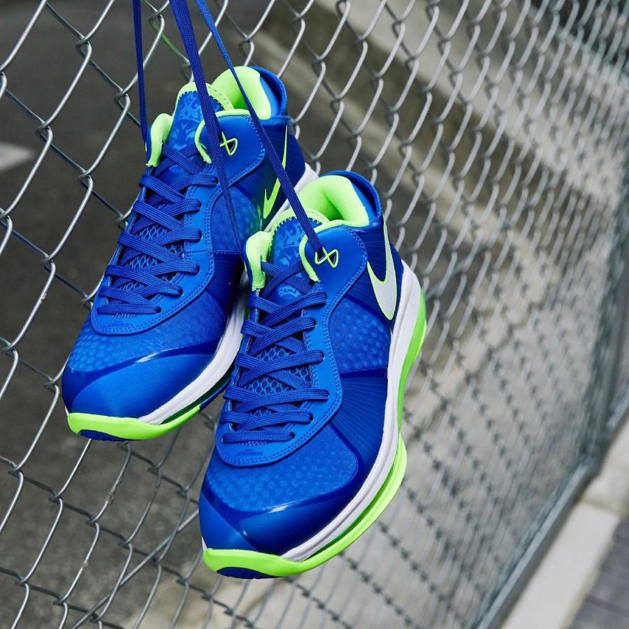 Nike Lebron VIII Low canette soda bleu et vert fluo (2)