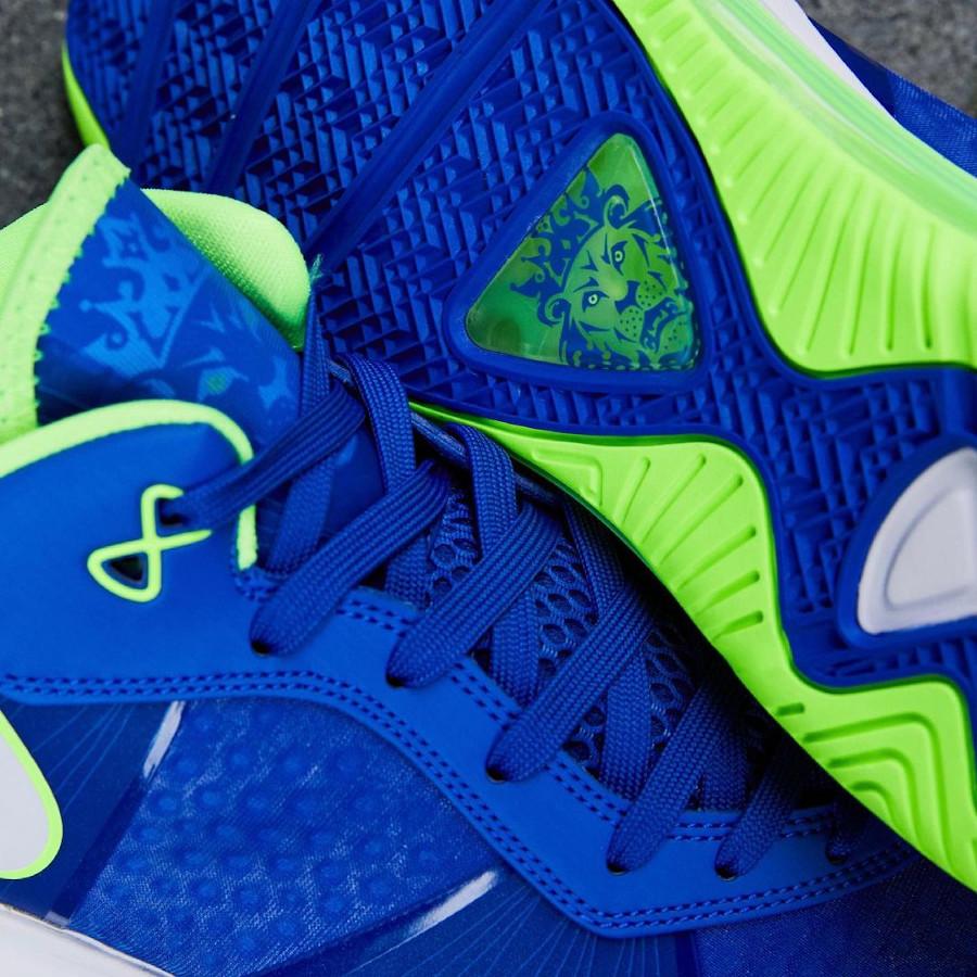 Nike Lebron VIII Low canette soda bleu et vert fluo (3)