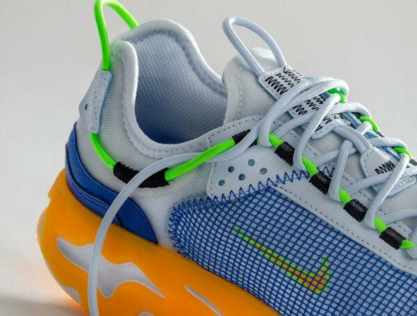 Nike React Live PRM Football Grey Hyper Royal Laser Orange (couv)