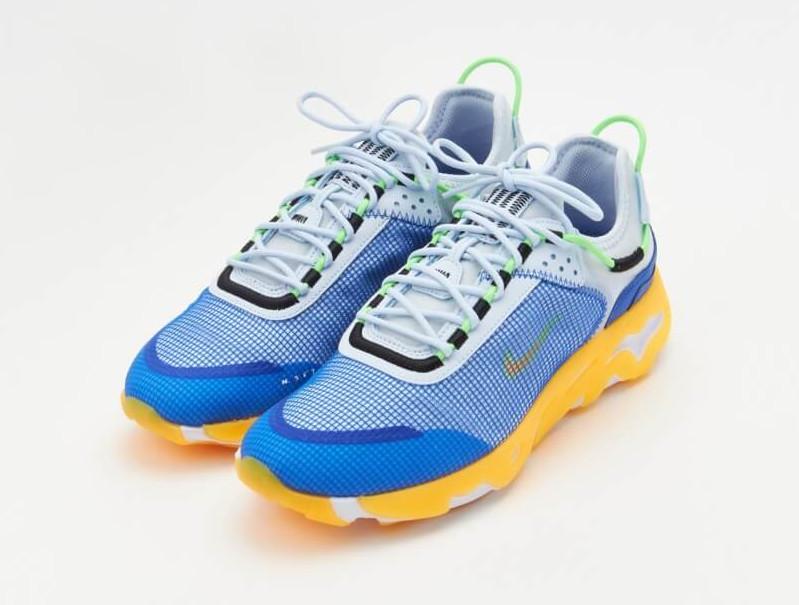 Nike React Live bleue jaune et grise (1)