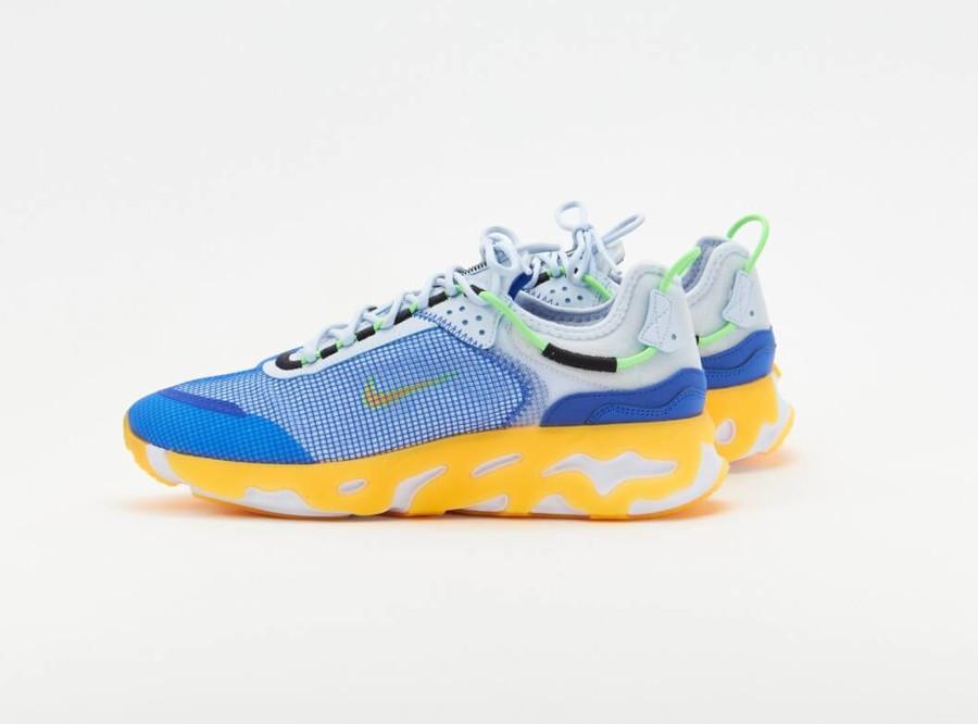Nike React Live bleue jaune et grise (2)