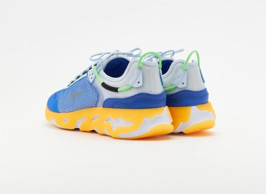 Nike React Live bleue jaune et grise (3)