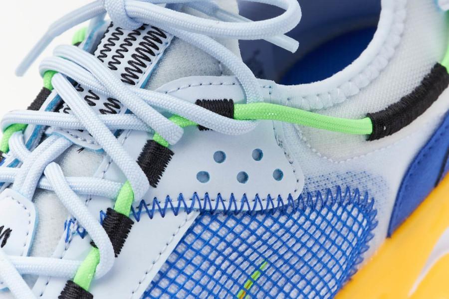 Nike React Live bleue jaune et grise (5)