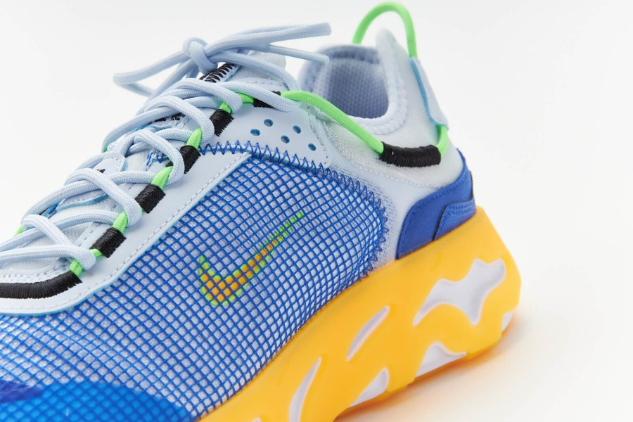 Nike React Live bleue jaune et grise (6)