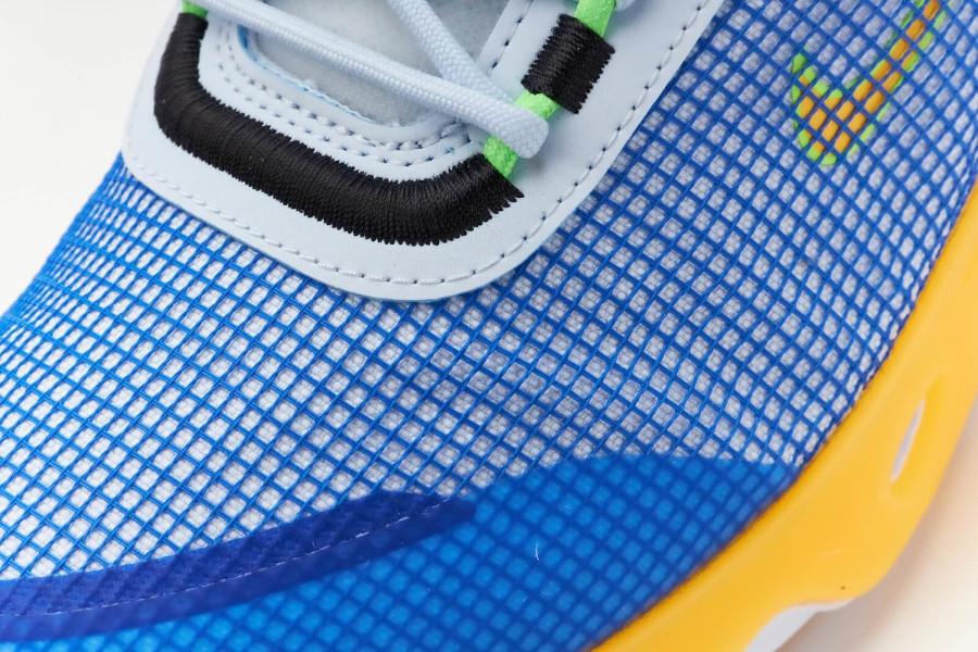 Nike React Live bleue jaune et grise (7)