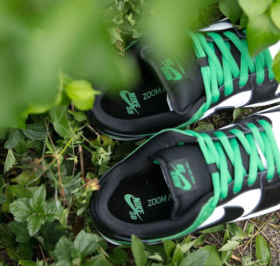 Nike SB Dunk Low blanche verte et noire (2)