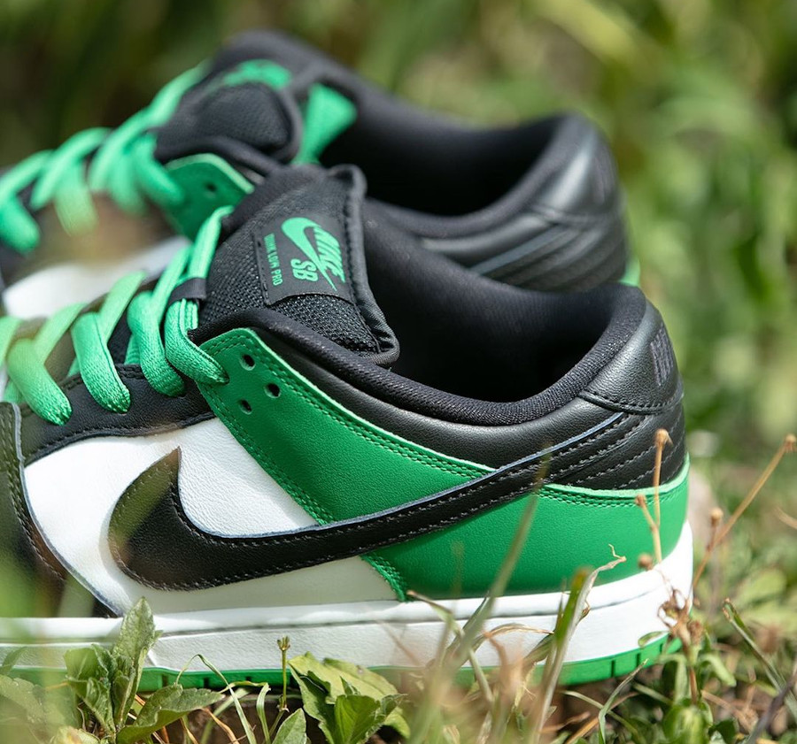 Nike SB Dunk Low blanche verte et noire (4)