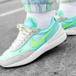 Nike Wmns Waffle One Bleached Aqua Lime Glow