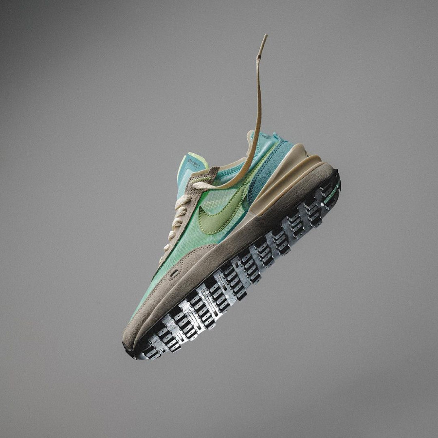 Nike Waffle one bleu pastel et vert citron (1)