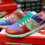 Nike Dunk Low Wmns Metallic 'Purple Pulse' Multicolor