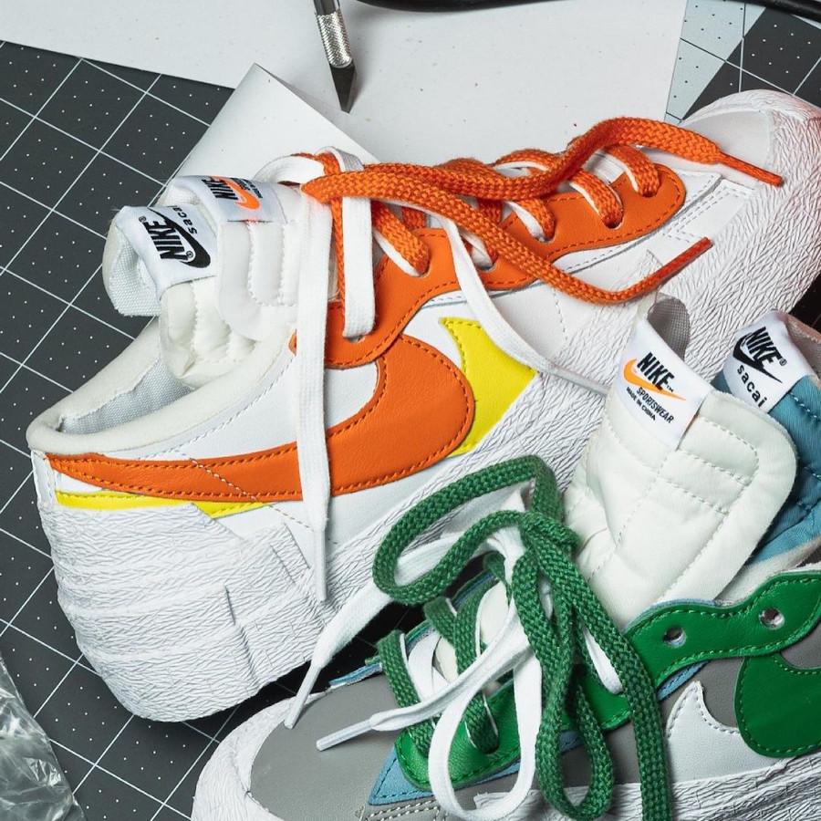 Nike x Sacai Blazer Low Chitose Abe Green Orange