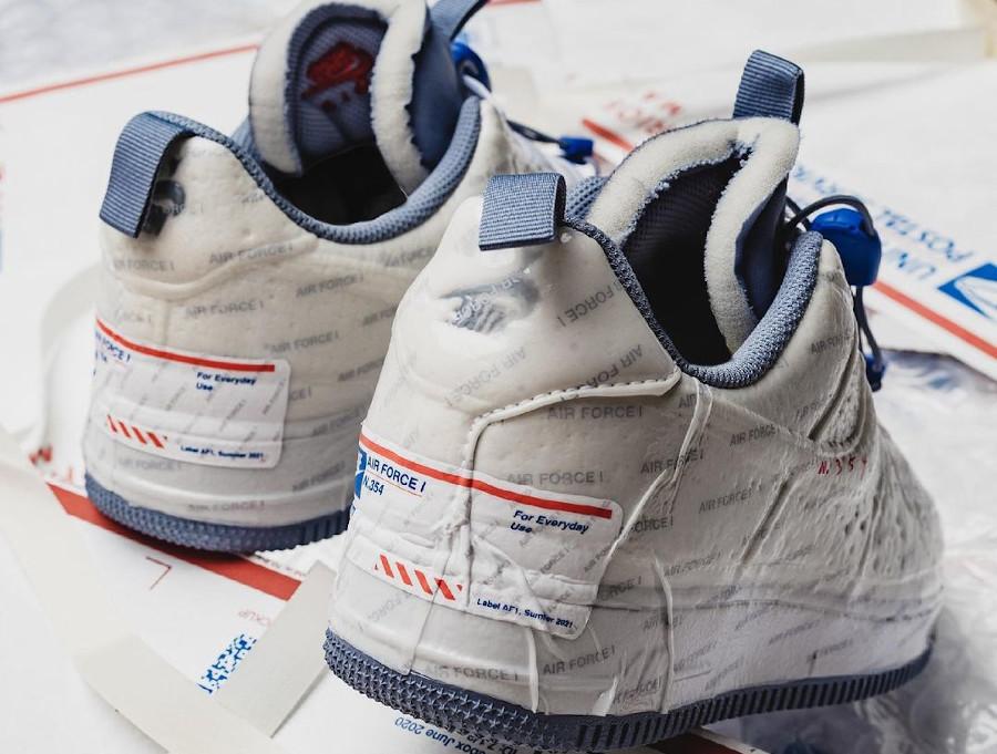 Nike x USPS AF1 Experimental Postal Ghost Priority Mail