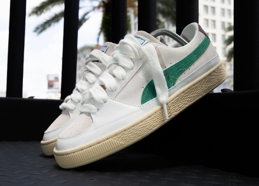 Puma Suede Rhude 2021 blanche et verte (3)