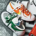 Sacai x Nike Blazer Low Classic Green & Magma Orange