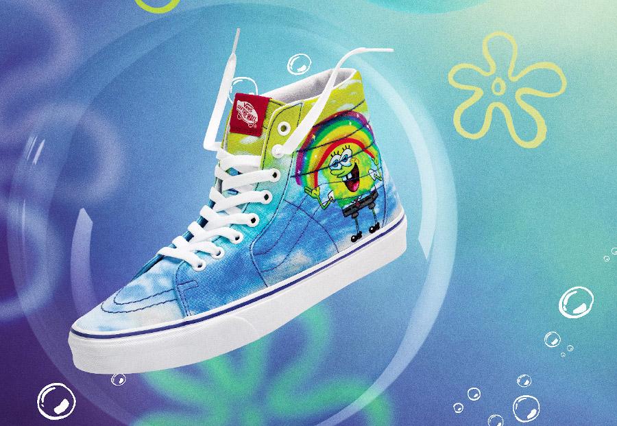 Vans SK8 Hi Spongebob arc-en-ciel