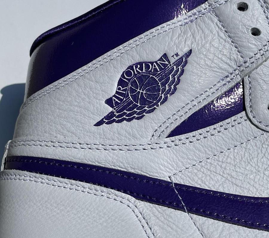 Women's Air Jordan 1 blanche et violette (3)