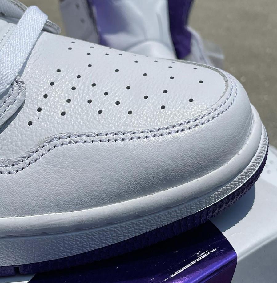 Women's Air Jordan 1 blanche et violette (4)