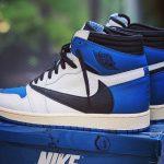 Travis Scott x Fragment Design x Air Jordan 1 High Military Blue