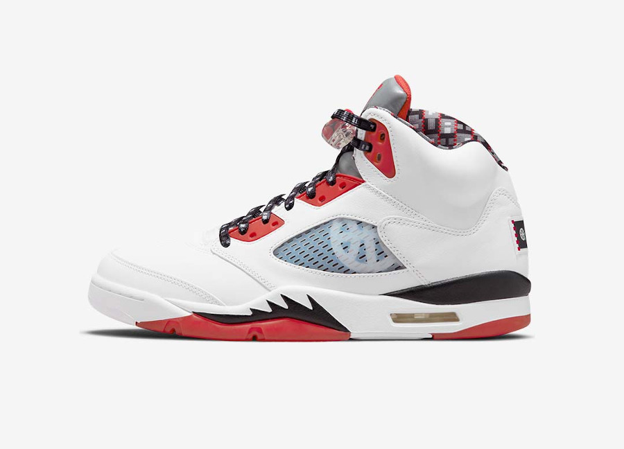 AJ5 Streetball blanche et rouge (3)