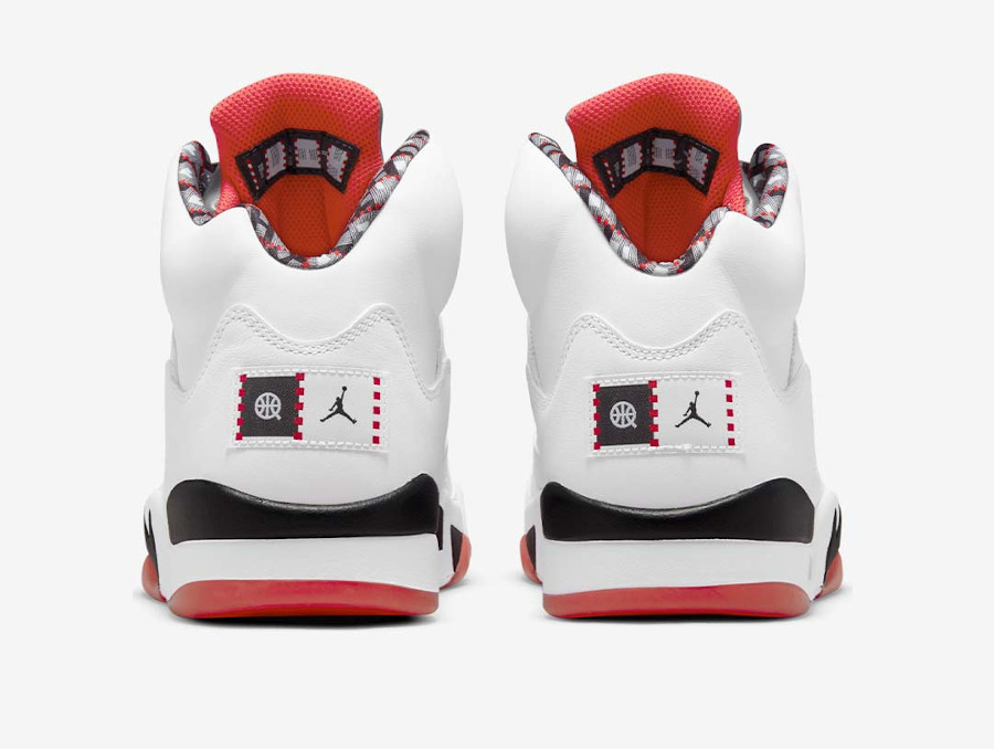 AJ5 Streetball blanche et rouge (5)